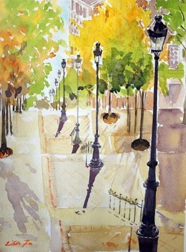 """""""Montmartre, Paris"""" original fine art by Lisa Fu"""