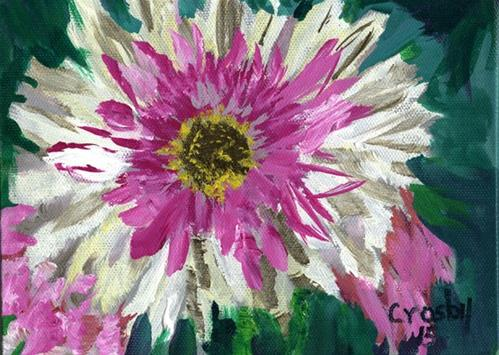 """""""Up Close And Personal"""" original fine art by Donna Crosby"""