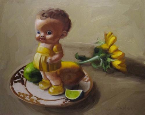 """""""Crazy Eyed Vintage still life oil painting"""" original fine art by Diane Hoeptner"""