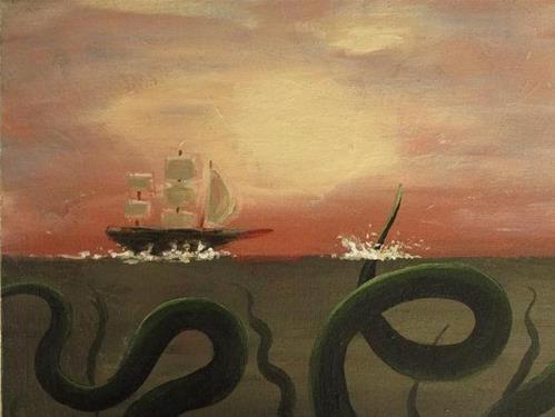 """Red Sky at Morning, Sailors' Warning"" original fine art by christina glaser"