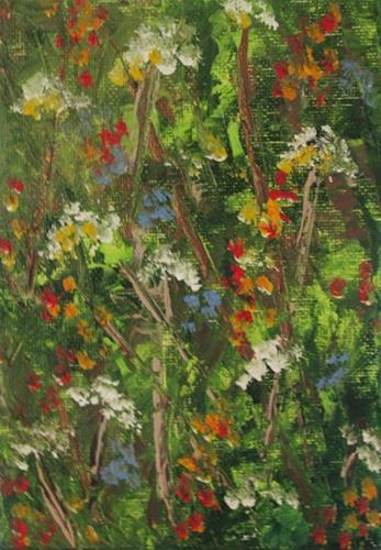"""Wildflowers4"" original fine art by Nan Johnson"