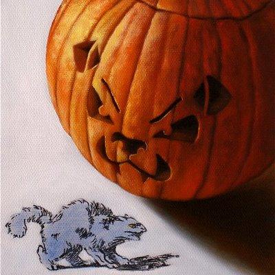 """Like Cats & Dogs"" original fine art by Jelaine Faunce"