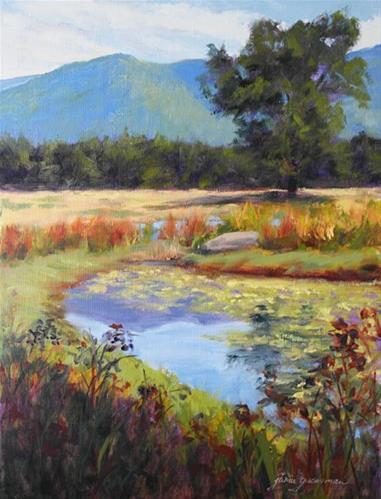 """Mountain Reflections"" original fine art by Jamie Williams Grossman"