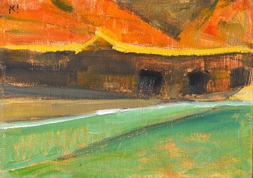 """Surf at Cabrillo"" original fine art by Kevin Inman"