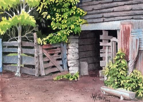 """Stall Under The Barn"" original fine art by Jeff Atnip"