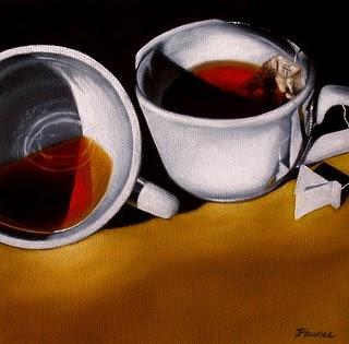 """A Couple of Cups"" original fine art by Jelaine Faunce"