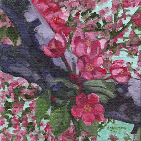 """Apple Blossoms No. 3"" original fine art by Randal Huiskens"