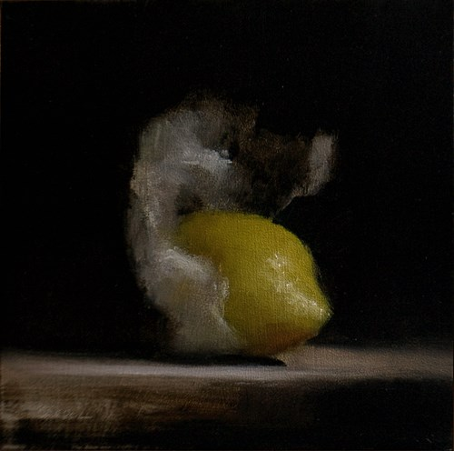 """Wrapped Lemon #1"" original fine art by Neil Carroll"