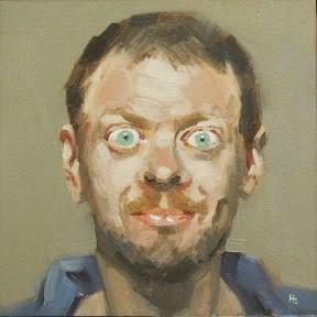 """""""FACE-IT # 38"""" original fine art by Helen Cooper"""