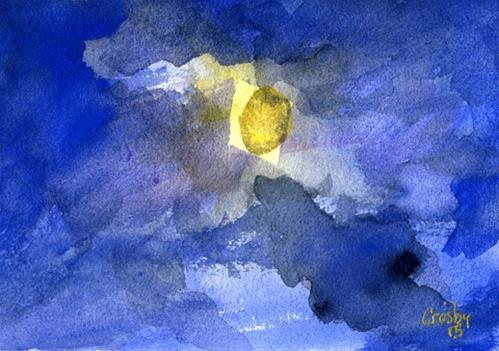 """Thanksgiving Moon 2015"" original fine art by Donna Crosby"
