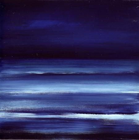 """""""Moon Glow - Ocean Meditation #9"""" original fine art by Anne Ducrot"""
