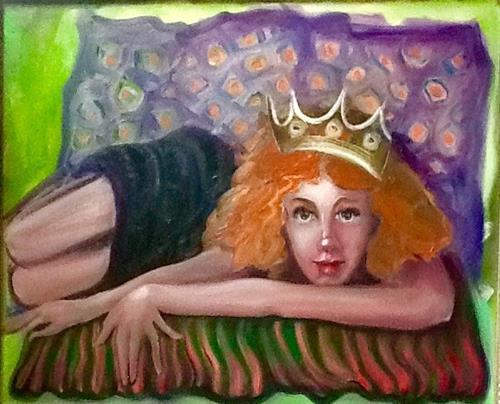 """Queen For A Day?"" original fine art by Nancy Levinson"