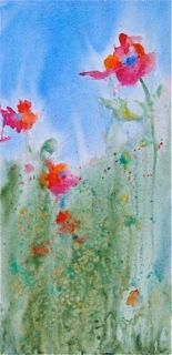 """Field Poppies original acrylic on canvas"" original fine art by Reveille Kennedy"