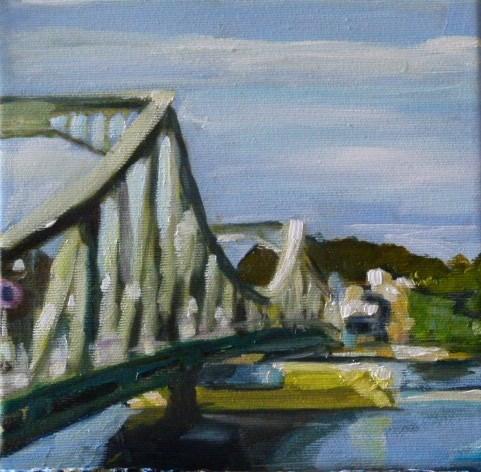 """""""Sonntagsspaziergang ,Glienickerbrücke"""" original fine art by Sabine Hüning"""
