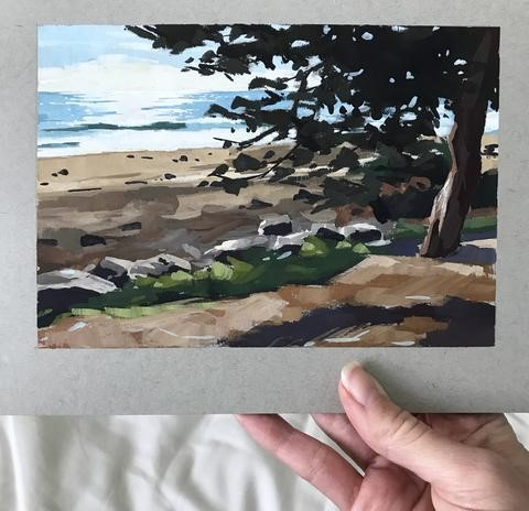 """West Beach, Santa Barbara"" original fine art by Sharon Schock"