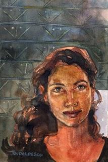 """Watercolor: Modern Matriarch"" original fine art by Belinda Del Pesco"