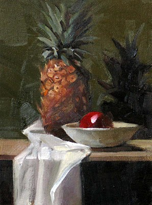 """Tropical Treat --- Sold"" original fine art by Qiang Huang"