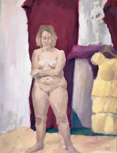 """Figure Painting Class"" original fine art by Nava Judith"