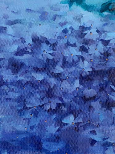 """Emerald Blue Phlox (no.121)"" original fine art by Michael William"