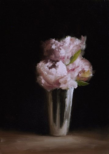 """Peonies in Cup"" original fine art by Neil Carroll"