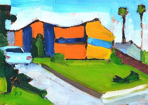 """Termite Tent, North Park"" original fine art by Kevin Inman"
