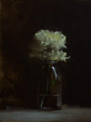 """""""Bottle of Mums"""" original fine art by Neil Carroll"""