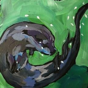 """Spin Cycle"" original fine art by Kat Corrigan"