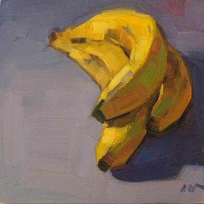 """3 Bananas --- SOLD"" original fine art by Carol Marine"