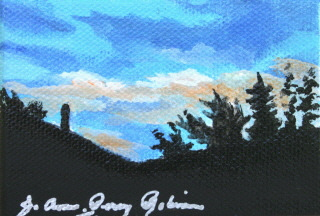 """A Little Night Scene"" original fine art by JoAnne Perez Robinson"