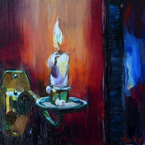 """Piano candle"" original fine art by Jurij Frey"