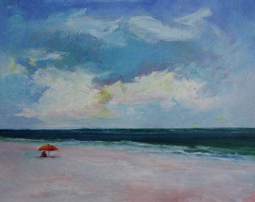 """""""Beach Dreams, Landscape and Seascape Paintings by Arizona Artist Amy Whitehouse"""" original fine art by Amy Whitehouse"""