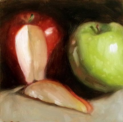 """Slice of Red"" original fine art by Cindy Haase"