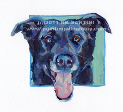 """""""Callie, A Painted Sketch"""" original fine art by Kimberly Santini"""