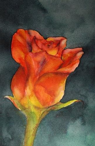 """""""Sunshine & Roses_10 x 6 watercolor floral"""" original fine art by Donna Pierce-Clark"""
