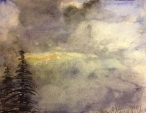 """Clouds"" original fine art by Maggie Flatley"