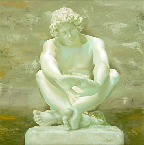 """Contemplation"" original fine art by David Clark"