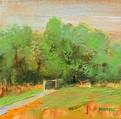 """Foot Bridge at Greenhill Park, Salem, Virginia"" original fine art by Sue Furrow"