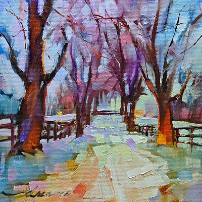 """""""Snow Blind SOLD"""" original fine art by Dreama Tolle Perry"""
