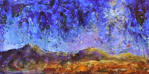 """Bethlehem Night, Contemporary Landscape Paintings by Arizona Artist Amy Whitehouse"" original fine art by Amy Whitehouse"