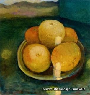 """Orange Sunshine"" original fine art by Deirdre McCullough Grunwald"