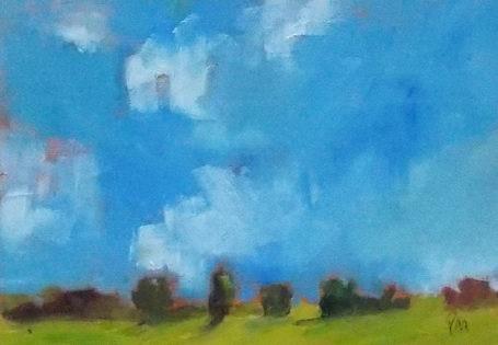 """""""Another Summer Sky"""" original fine art by Pamela Munger"""