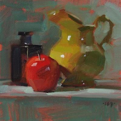 """Bot App Pitch"" original fine art by Carol Marine"