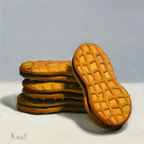 """Nutter Butter Peanut Butter Cookie Stack"" original fine art by Kim Testone"