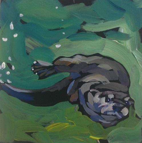 """Sling!"" original fine art by Kat Corrigan"