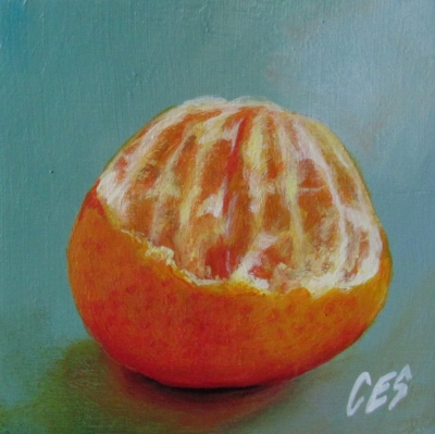 """Smashing Orange"" original fine art by ~ces~ Christine E. S. Code"