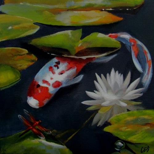 """""""Meet and Greet at the Lily"""" original fine art by ~ces~ Christine E. S. Code"""