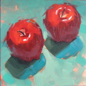 """TWO DELICIOUS"" original fine art by Helen Cooper"