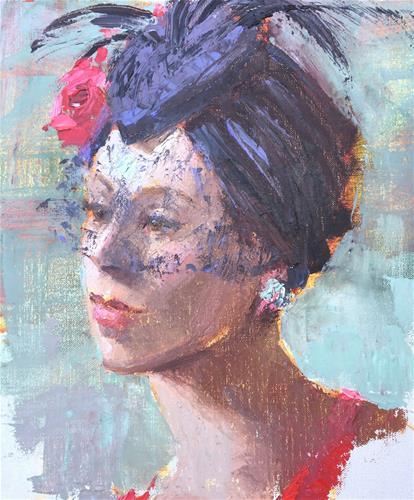 """The Fascinator"" original fine art by Johanna Spinks"