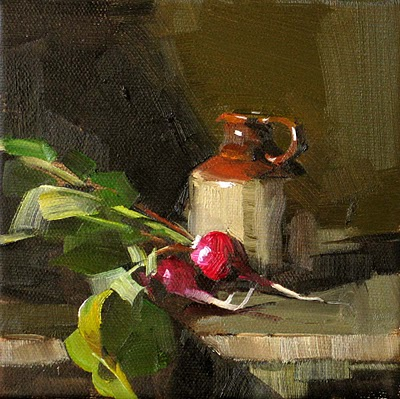"""Red Radish --- Sold"" original fine art by Qiang Huang"