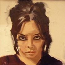"""""""FACE-IT.  #6"""" original fine art by Helen Cooper"""